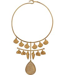 aurelie bidermann panama quartz necklace - gold