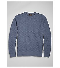 reserve collection cotton & cashmere crew neck men's sweater - big & tall