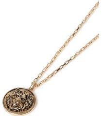 mens gold lion pendant necklace*