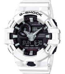 g-shock men's analog-digital white resin strap watch 54mm ga700-7a