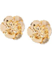 zenzii 18k gold-plated poppy stud earrings