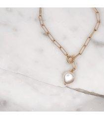 bransoletka łańcuchowa z perłą chain