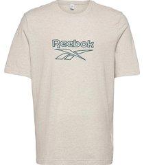 cl f vector tee t-shirts short-sleeved creme reebok classics