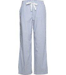 adult poplin pajama pants pyjamasbyxor mjukisbyxor blå gap