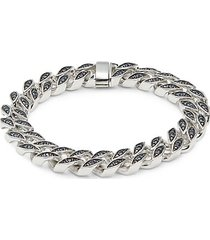 sterling silver & blue sapphire bracelet