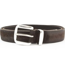 orciani brushed suede belt