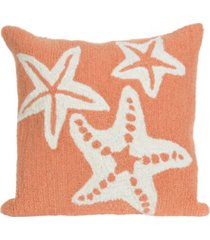 "liora manne frontporch starfish indoor, outdoor pillow - 18"" square"