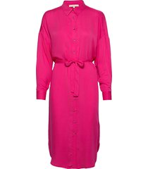 carli ls long shirt jurk knielengte roze soft rebels
