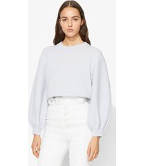 proenza schouler cashmere puff sleeve sweater blue grey m