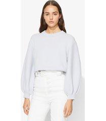 proenza schouler cashmere puff sleeve sweater blue grey m
