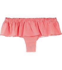 marlies dekkers ruffled printed bikini bottoms - red