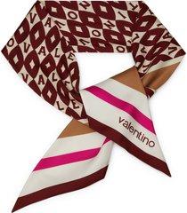 valentino garavani logo silk skinny scarf in ivory/multi at nordstrom