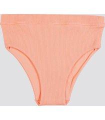 ribbade bikinitrosor med hög benskärning - aprikos