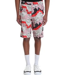 stone island shorts in rose-pink cotton