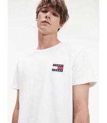 camiseta con parche de tommy jeans blanco tommy jeans