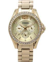reloj dorado fossil