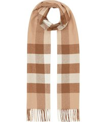 burberry cashmere check scarf - neutrals
