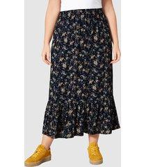 kjol janet & joyce marinblå::gul