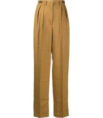 jean paul gaultier pre-owned 1990s wide-leg trousers - neutrals