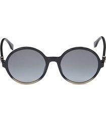 fendi women's 55mm round sunglasses - blue