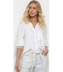 camisa manga 3/4 sommer lisa feminina