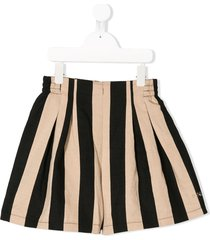 monnalisa striped flared shorts - neutrals