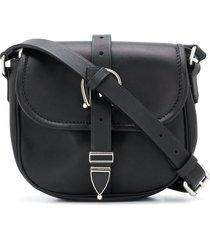 golden goose motif buckle shoulder bag - black