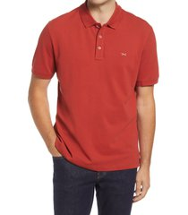 brax pete stretch cotton polo shirt, size small in cinnamon at nordstrom