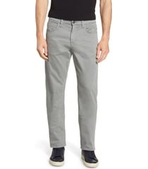 mavi jeans matt relaxed fit jeans, size 33 x 32 in grey twill at nordstrom