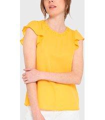 blusa io amarillo - calce holgado