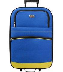 maleta de viaje tipo cabina amarillo discovery - explora