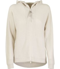 brunello cucinelli ribbed-knit cashmere hoodie