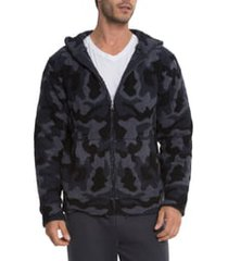 men's barefoot dreams camo zip hoodie, size small - blue