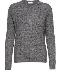 femme mohair o pullover stickad tröja grå moss copenhagen