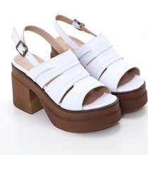 sandalia blanca heyas saf11