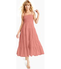 inc cotton tie-shoulder smocked dress, created for macy's