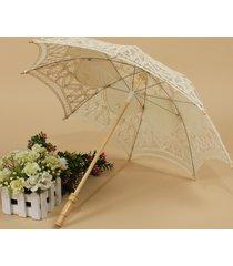 ombrello da sposa fatto a mano da sposa con parasole in pizzo stile retrò