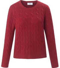 trui van 100% kasjmier met ronde hals van peter hahn cashmere rood