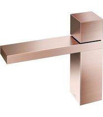 torneira para banheiro mesa bica baixa mínima cobre escovado - 00919769 - docol - docol