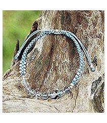 fluorite braided bracelet, 'iridescent dreams' (thailand)