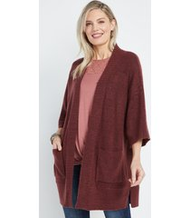 maurices womens solid oversized cardigan red