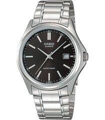 mtp-1183a-1a reloj negro hombre clasico