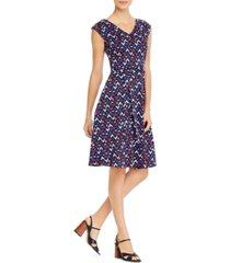 weekend max mara cotton geo-print dress