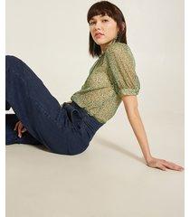 motivi camicia fantasia puntinata donna verde