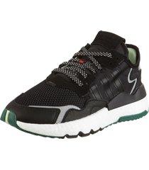 zapatilla negro adidas originals nite jogger w
