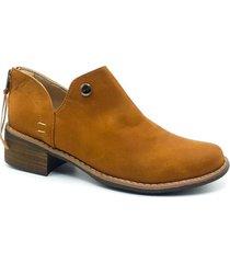 zapato  botin zavatty miel para mujer, modelo ta247