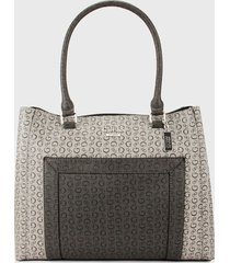 bolso gris guess