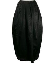 marine serre pleated puffball skirt - black