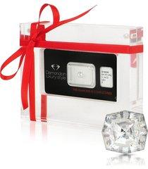 amin luxury designer earrings, 1.14 carat web cut diamond