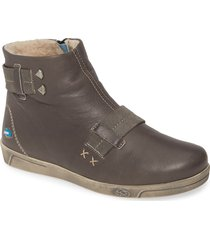 cloud aiden wool lined bootie, size 9us in dark grey leather at nordstrom